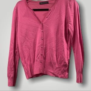 M&S UK8 Pink Button Up Knit Sweater Cardigan